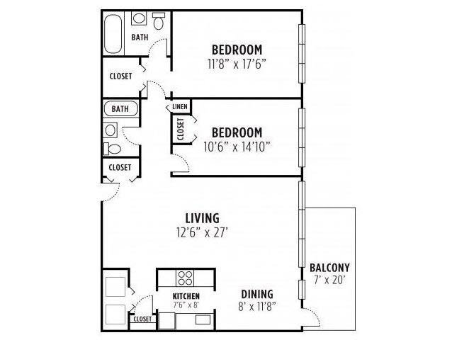2 Bedroom - Plan 1