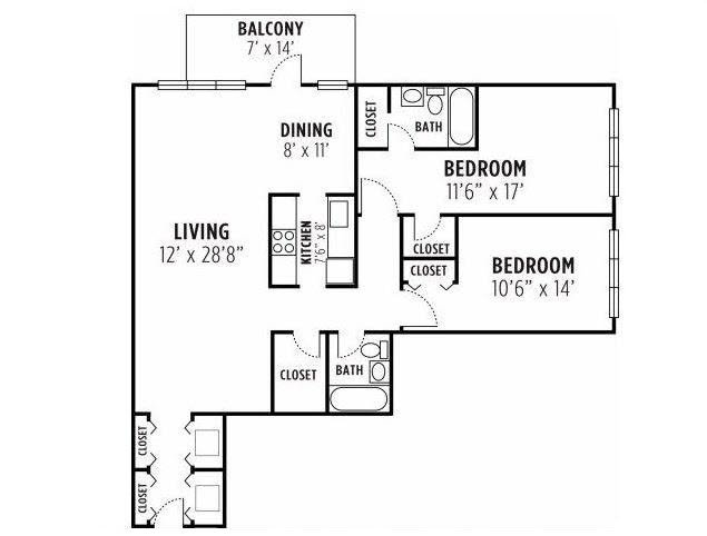 2 Bedroom - Plan 2